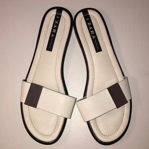 White Silver buckle Sandals